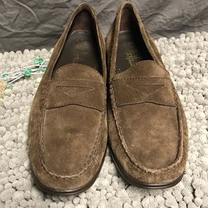 Cole Haan brown suede loafers 8.5. Great condition
